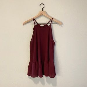 Altar'd State Bow Maroon Top